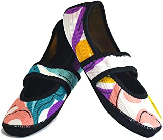 Nufoot Betsy Lou Fuzzies Women's Shoes, Best Foldable & Flexible Flats, Slipper Socks, Travel Slippers & Exercise Shoes, D...