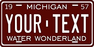 Michigan 1957 Personalized Tag Vehicle Car Moped Bike Bicycle Motorcycle Auto License Plate