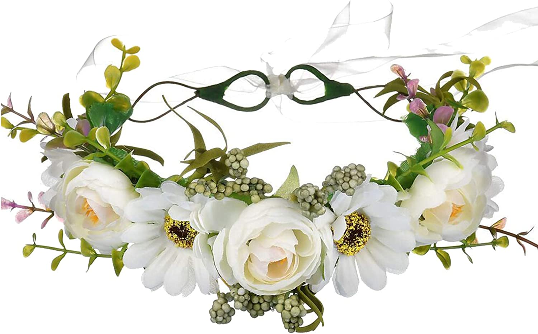 Handmade Adjustable Flower Wreath Headband Halo Floral Gar Crown Challenge the lowest price of Japan ☆ Sale