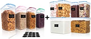 Vtopmart 4pcs cereal containers and 6pcs flour containers
