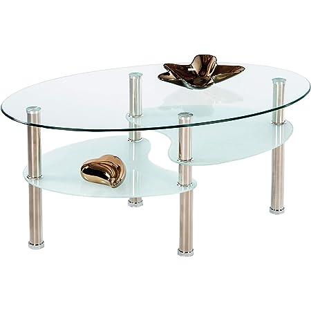 Colore Nero 100 x 48 x 41,5 cm Tavolino Recttangolare con Scomparto Tavolo da t/è Elegante e Moderno Wakects Tavolino da caff/è Tavola da Salotto