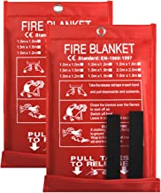 Fire Blanket Fire Guardian Blanket and Fire Blanket Fire Suppression Blankets for Kitchen, Bedroom, People- Energency Safe...
