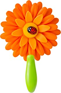 Vigar Flower Power Hook with Suction, 4-7/8-Inches, 2-Pack, Orange