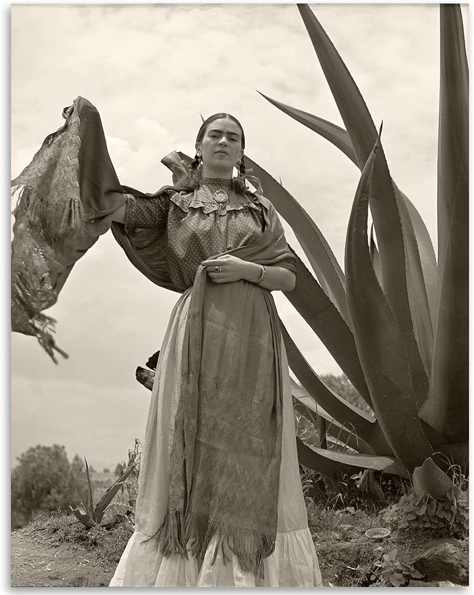 Frida Kahlo Southwest Cactus Photo- 11x14 Unframed Print - Perfect Vintage Home and Office Décor Under $15