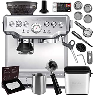 Breville BES870XL Barista Express Espresso Machine Brushed Stainless Steel + Manufacturer's Warranty + Knock Box Mini