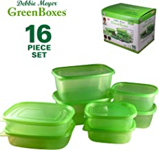 Debbie Meyer GreenBoxes, Food Storage Containers with Lids, Keep Fruits, Vegetables, Baked Goods & Snacks Fresher Longer!  BPA Free, Microwave & Dishwasher Safe-  16 Piece Set