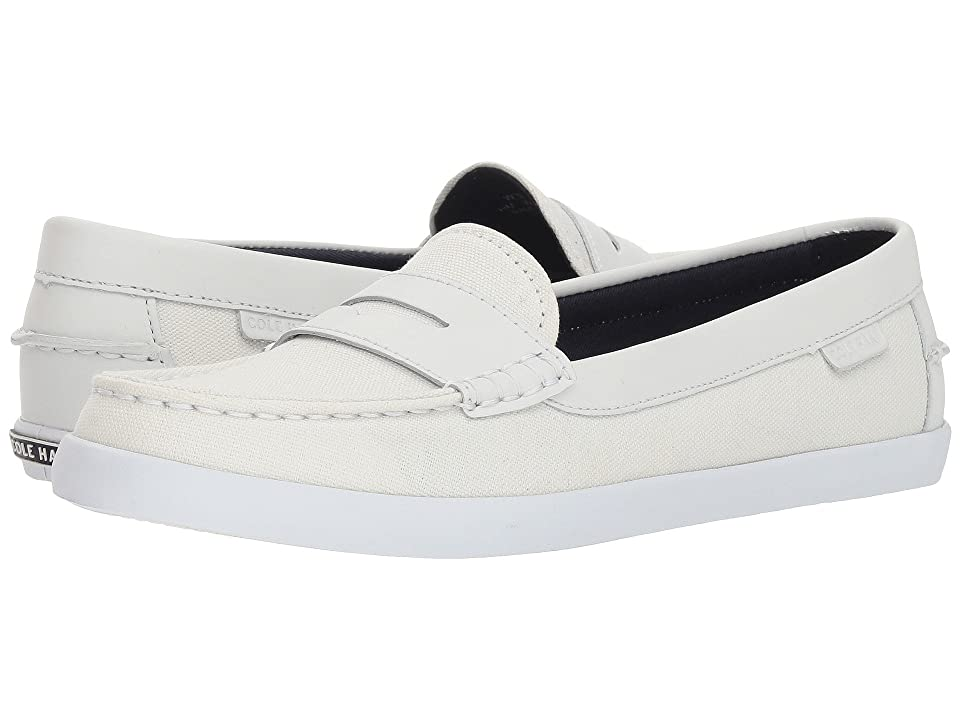 Cole Haan Pinch Weekender (Chalk Canvas/Optic White Leather/Optic White) Women's Slip on Shoes