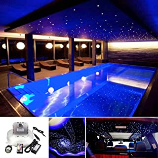 Huaxi Car Home Use 32W RGB Twinkle+ Sound Activated Fiber Optic Lights Kit Star Ceiling Sky Light...