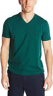 Nautica Men's Short Sleeve Solid Classic Fit V-Neck T-Shirt
