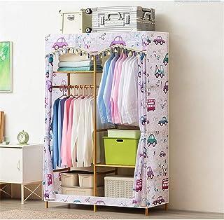 Caishuirong Penderies repliables 108x43x164cm Armoire en Bois Armoire Vêtements Solution de Stockage avec étagères suspend...
