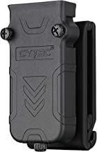 CYTAC Tactical Single Magazine Pouch, Universal Mag Holster with Belt Clip Fits 9MM .40 .45 Caliber Single or Double Stack Magazines