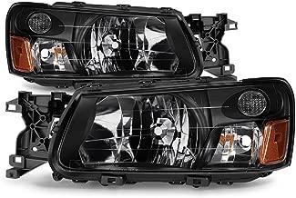 ACANII - For 2003-2004 Subaru Forester Headlights Headlamps Aftermarket 03-04 Set Driver + Passenger Side