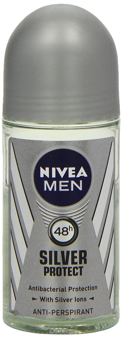 有彩色のごちそう協力ニベア メンズ シルバープロテクト ロールオン デオドラント 48時間 アンチパースピラント 50ml (透明) 並行輸入品 Nivea for Men Silver Protect Anti-Perpirant Roll-on 50 ml
