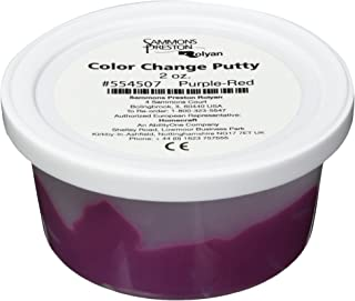 Sammons Preston Color Change Putty for Physical Therapeutic Hand Exercise, Flexible Therapy Putty for Finger and Hand Recovery and Rehabilitation, Strength Training, 2 oz, Purple to Red, Soft Medium