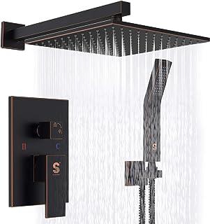 SR SUN RISE Oil Rubbed Bronze Shower System 12 Inch Brass Bathroom