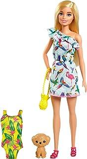Barbie Famille l'Anniversaire Perdu de Chelsea coffret poupée blonde et son chiot, accessoires de voyage inclus, jouet pou...