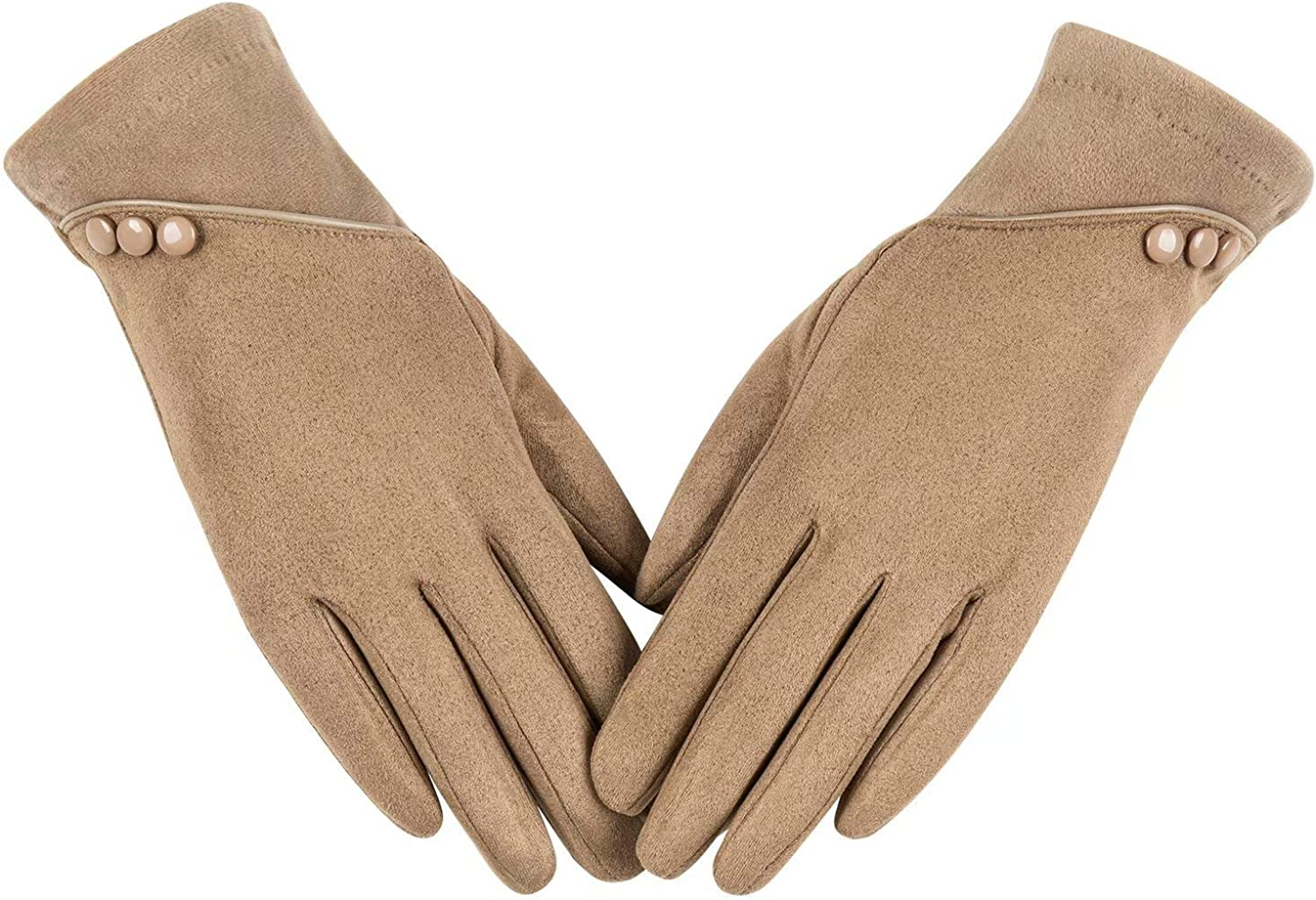 Womens Winter Warm Gloves With Sensitive Touch Screen Texting Fingers, Fleece Lined Windproof Gloves