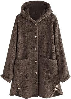 NANTE Top Loose Women's Coat Solid Hoodie Pocket Sweater Coats Pullover Casual Outwear Womens Outerwear Boyfriend Overcoat