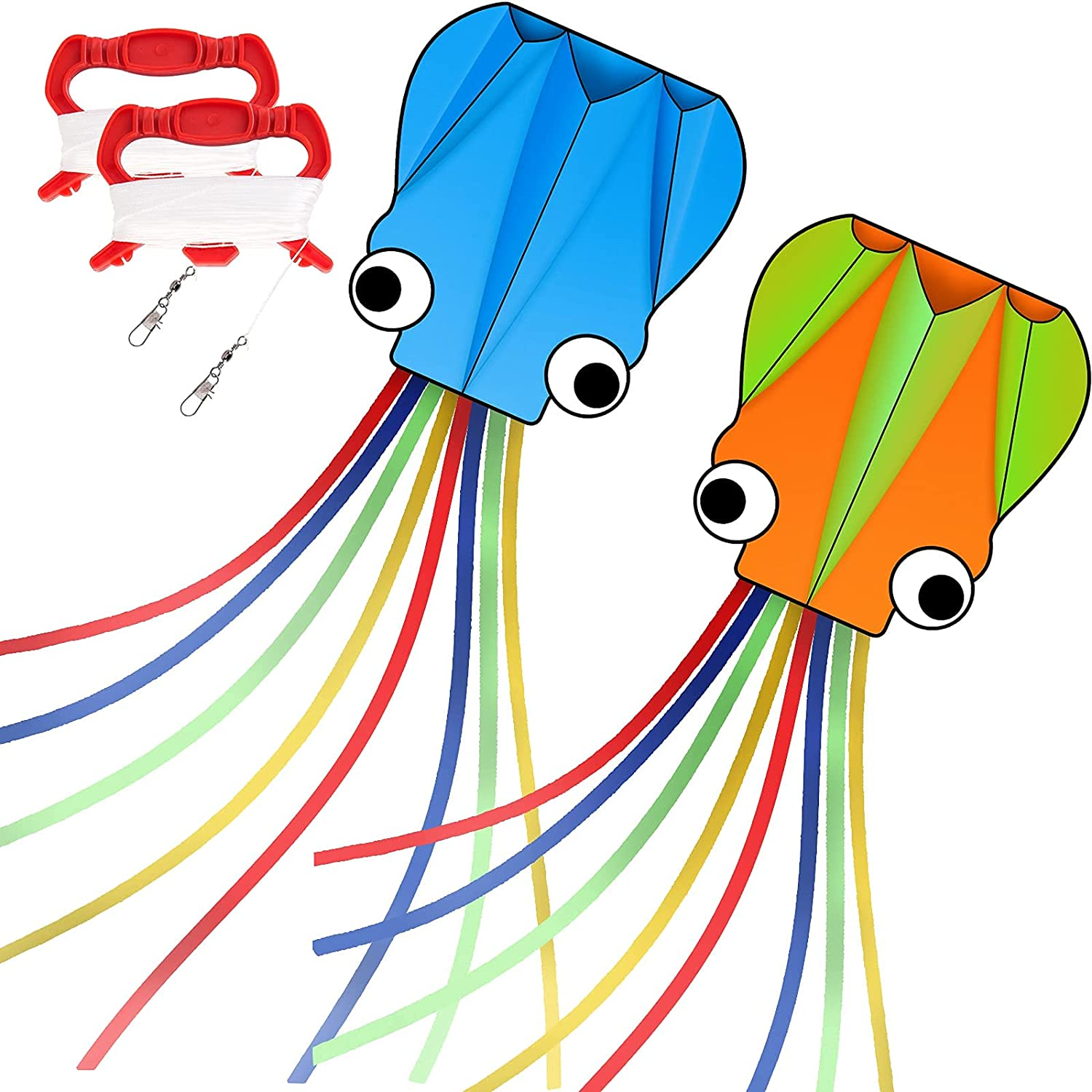 DASK Kites for Max 55% OFF Kids Easy to Ranking TOP19 3D Octopus Pack 2 Fly Kite