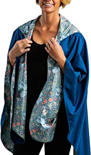 Rain Poncho for Women - Reversible Rainproof Hooded Cape in Gorgeous Ultrasoft Colors (Choose Your Color)