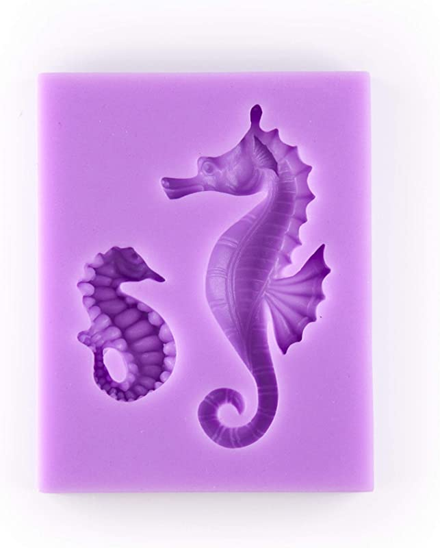 Tasty Molds Seahorse Silicone Fondant Mold High Definition Quality Cupcake Topper Cake Decoration Ocean Theme Birthday Party Tool For Candy Sugarcraft Resin Polymer Clay And Other Crafting Projects