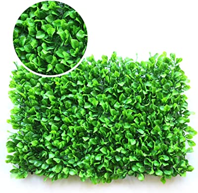 XEWNEG Paneles Artificial Hedges, Paneles De Boj Topiary Hedge Planta UV Privacidad Protegida, For Jardín Decoración De Pared Exterior (15,75 X 23,62 Pulgadas) (Color : 01): Amazon.es: Hogar
