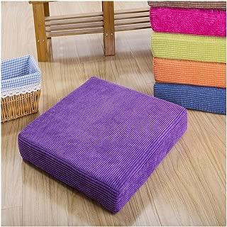Bigfan Cushion Soft Comfortable Chair Cushion Solid Color Seat Cushion Square Floor Tatami Cushion Home Office Universal,Zi Se,45X45Cm 1Piece