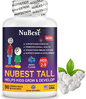 NuBest Tall Kids - Supports Healthy Growth in Kids from 2 to 9 Years Old with Multivitamins and Multi-Minerals - Berry Fla...