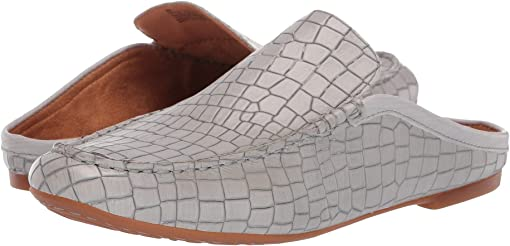 Grey Croc Full Grain Leather
