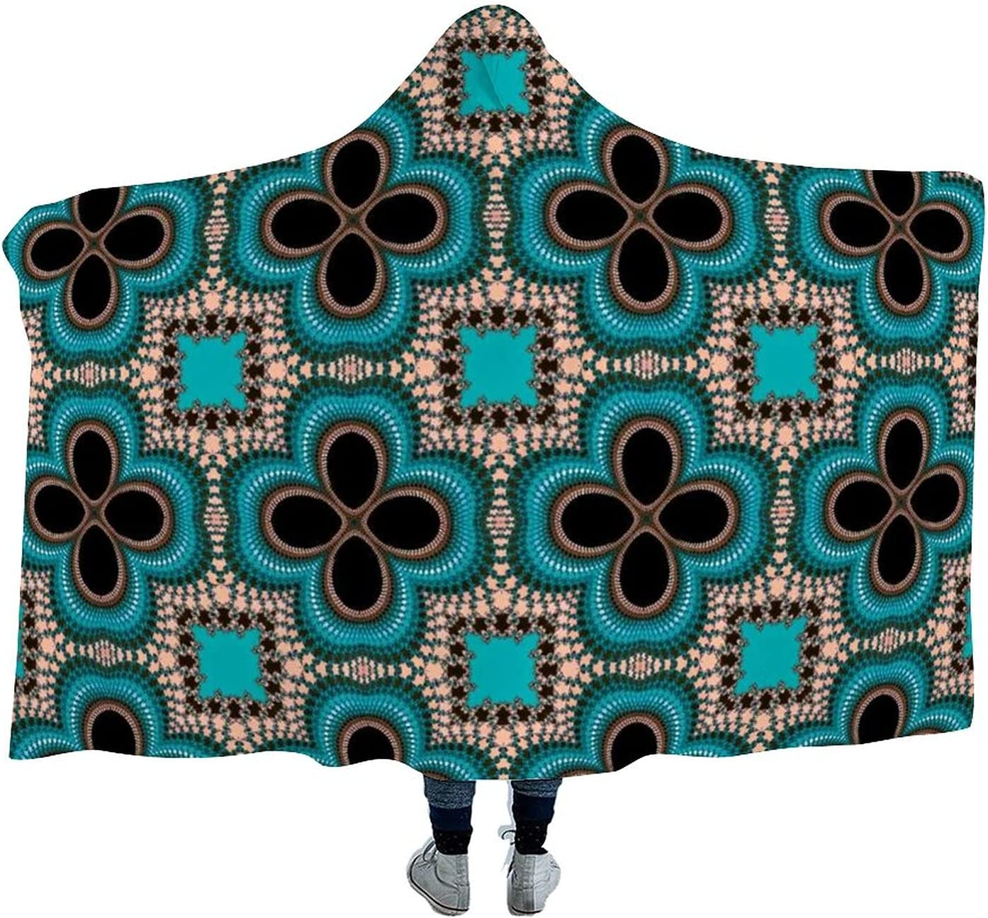 Retro Graphics Bombing free shipping Wearable Velvet Hooded Super Throw Blanket Soft Max 68% OFF