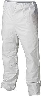 Kleenguard A40 Liquid & Particle Protection Pants (44414), Elastic Waist, Open Ankles, White, XL, 50 Garments / Case