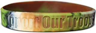 Novel Merk Support Our Troops Desert, Camouflage & Yellow Silicone Rubber Band Wristband Bracelet Accessory