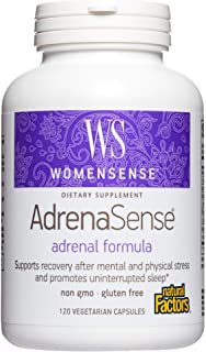 WomenSense AdrenaSense by Natural Factors, AdrenaSense, Herbal Supplement for Adrenal Support and Stress Relief, Vegan, No...