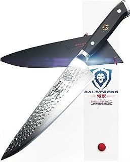 DALSTRONG Cuchillo Chef - 26 cm - Grande - Shogun Series X Professional Gyuto - Acero Japonés AUS-10V (Tratado al Vacío) 67 Capas - Acabado Martillado - Con Funda