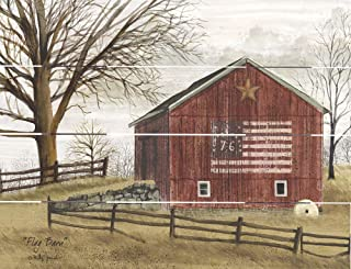 Rustic Pallet Art Flag Barn- Amish Made in The USA
