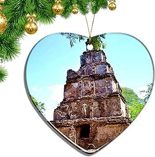 Hqiyaols Ornament Sri Lanka Polonnaruwa Christmas Ornaments Ceramic Sheet Souvenir City Travel Pendant Gift Tree Door Window Ceiling Decoration Collection