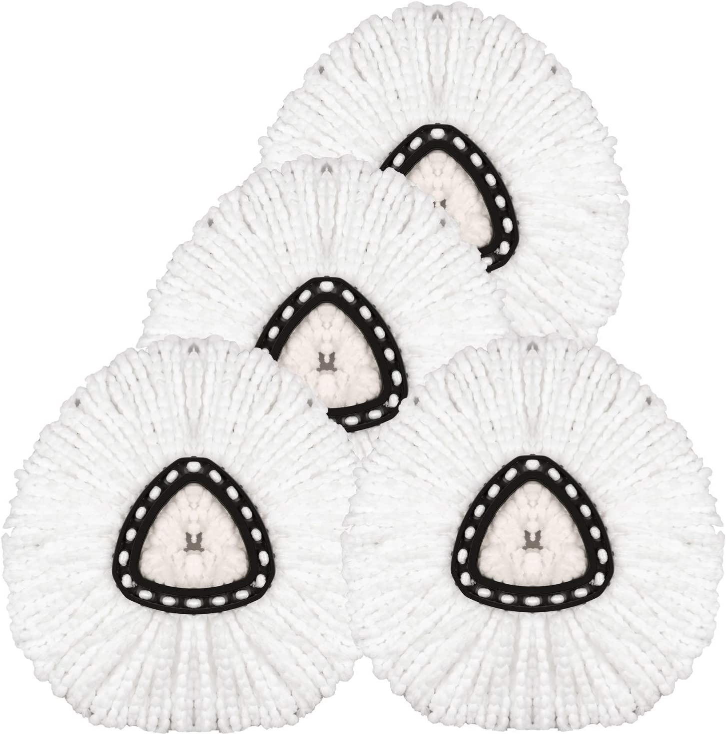 4 Pack Spin Mop Replacement Spi Refills Microfiber Tulsa discount Mall Head