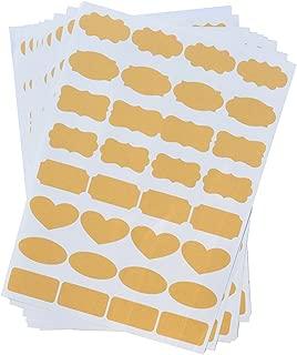 Uniclife Essential Oil Bottle Stickers Labels Fancy Kraft Paper, 8 Sheets of Labels, 256pcs