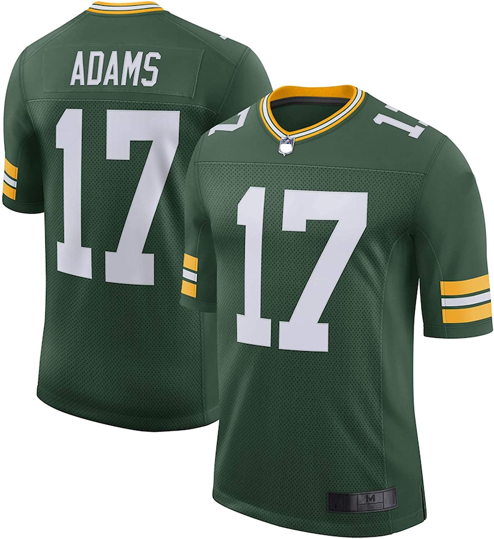 SBAN Custom American Football Jersey Rugby Clothing Davante Bay Packers NO.17 Green Adams Vapor Limited Jersey Breathable Sweatshirt For Men Green