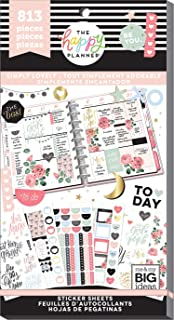 The Happy Planner Sticker Value Pack - Simply Lovely Theme - Multi-Color & Gold Foil - Great for Projects, Scrapbooks & Albums - 30 Sheets, 813 Stickers Total