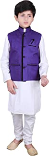 Boys Indian traditional Bollywood Modi Gandhi Style kids Vest Waistcoats 009