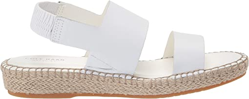 Optic White Leather/Natural Jute/Gume