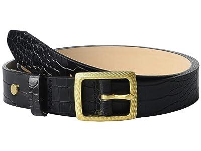 rag & bone Boyfriend Belt (Black Croco) Women