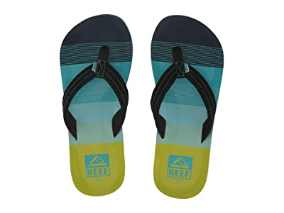 Reef Kids Ahi (Little Kid/Big Kid) (Aqua/Green) Boys Shoes