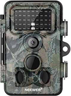 Neewer Trail Game Camera 16MP 1080P HD Digital Waterproof Hunting Scouting Cam 120° Wide Angle Lens with 0.3s Trigger Spee...