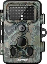 Neewer Trail Game Camera 16MP 1080P HD Digital Waterproof Hunting Scouting Cam 120 Degree Wide Angle Lens with 0.3s Trigger Speed Motion Activated Night Vision for Wildlife Monitoring