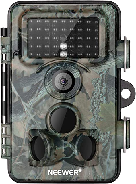Neewer Cámara Digital Exploración Caza Trail 16MP 1080P HD a Prueba Agua Lente 120°Gran Angular con 03s Velocidad Disparo Activada Visión Nocturna para Monitoreo de Vida Silvaje