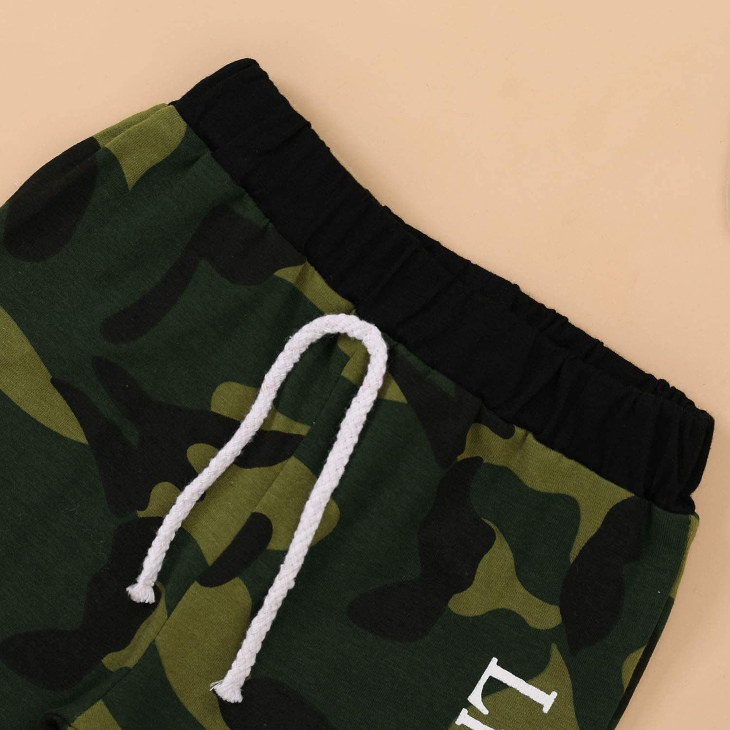Baby Boy Brother Matching Outfits Little Big Brother Romper Top+Camouflage Pants+Hat 3Pcs Clothes