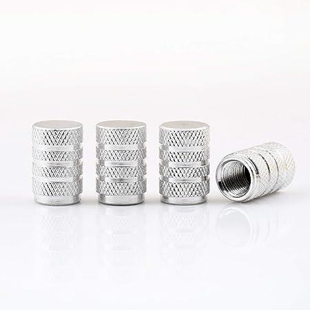 5x Ventilkappen Lang Leicht Metall Mit Gummiring Dichtung Farbe Silber Chrom Ventilkappe Vsl Auto