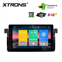 XTRONS Android 9.0 Car Stereo Radio GPS Navigation 9 Inch Touch Screen Slim Design in-Dash Head Unit Supports Plug and Play WiFi Bluetooth 5.0 Backup Camera DVR OBD2 TPMS for BMW E46 M3 Rover75 MG ZT